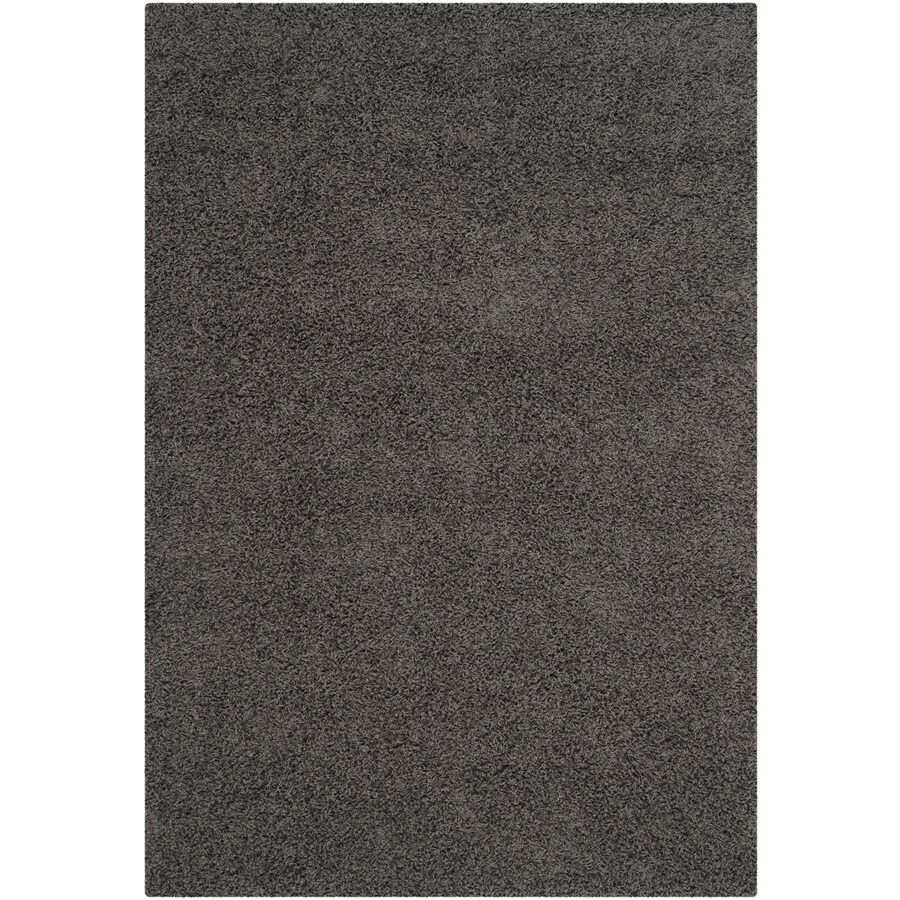 Safavieh Athens Shag Dark Gray Rectangular Indoor Machine-made Moroccan Area Rug (Common: 5 x 7; Actual: 5.1-ft W x 7.5-ft L)