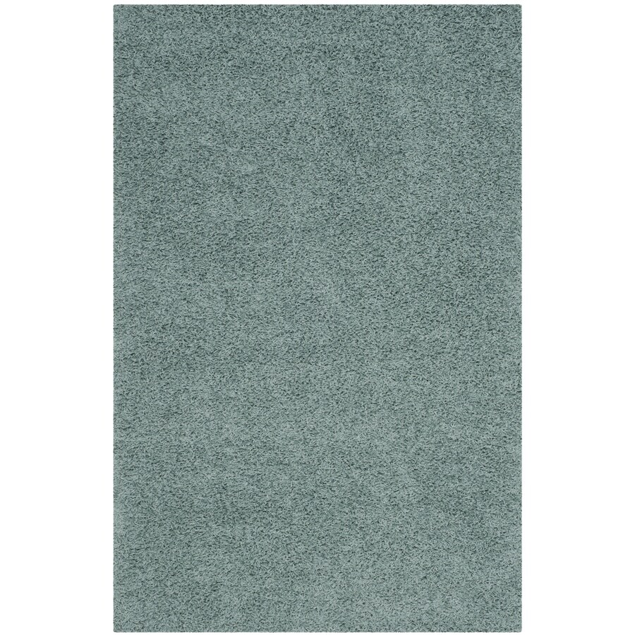 Safavieh Athens Shag Seafoam Rectangular Indoor Machine-made Moroccan Area Rug (Common: 5 x 7; Actual: 5.1-ft W x 7.5-ft L)