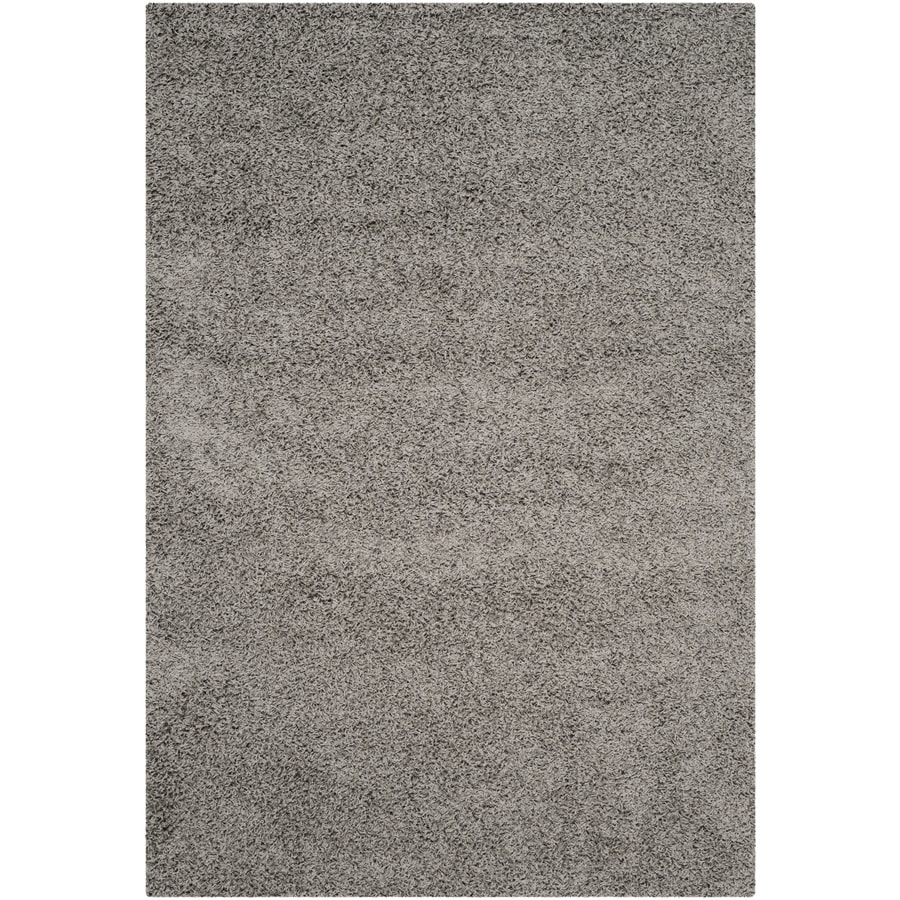 Safavieh Athens Shag Light Gray Indoor Moroccan Area Rug (Common: 5 x 8; Actual: 5.1-ft W x 7.5-ft L)