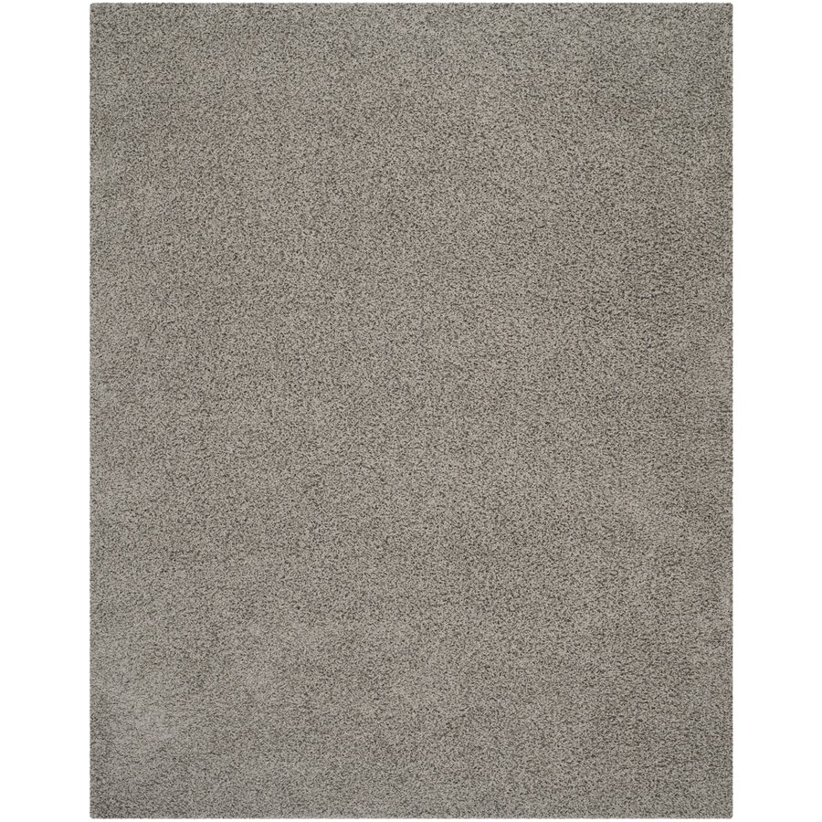 Safavieh Athens Shag Light Gray Indoor Moroccan Area Rug (Common: 8 x 10; Actual: 8-ft W x 10-ft L)