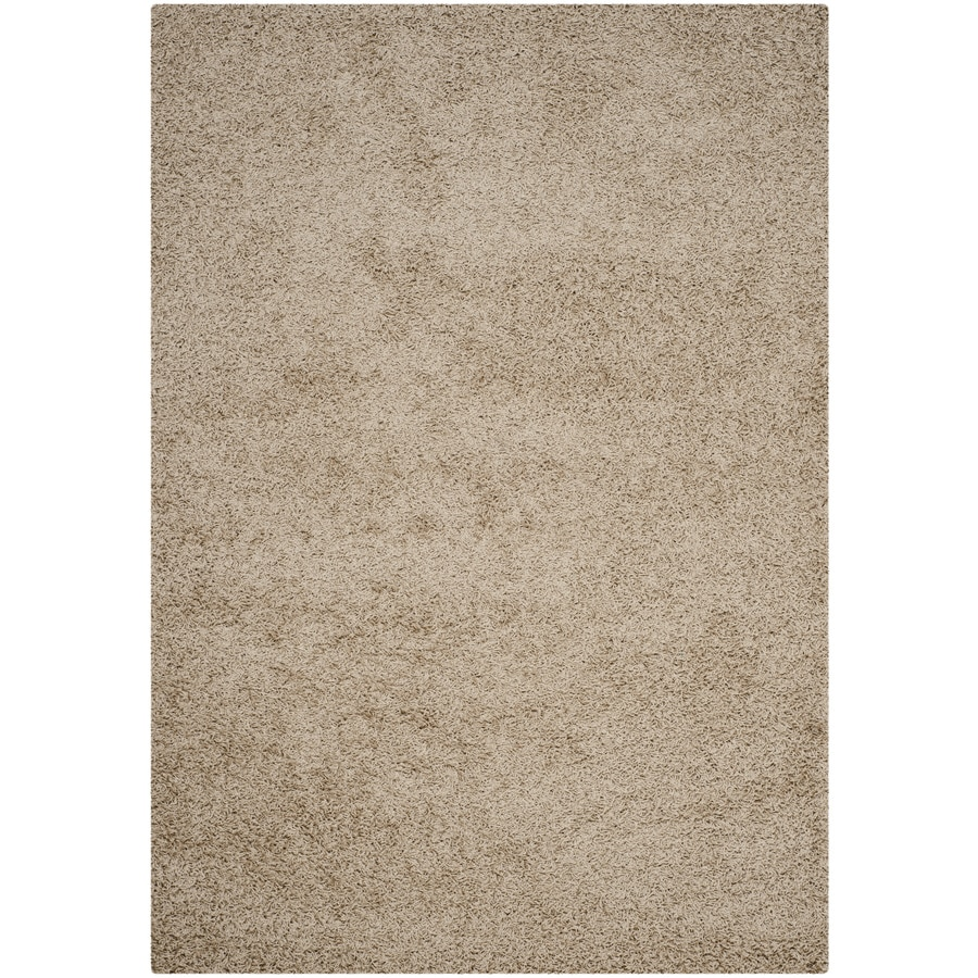 Safavieh Athens Shag Beige Indoor Moroccan Area Rug (Common: 4 x 6; Actual: 4-ft W x 6-ft L)