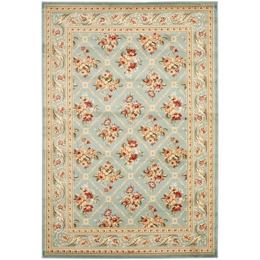 Safavieh Lyndhurst Floral Lattice Blue/Blue Indoor Oriental Area Rug (Common: 5 x 8; Actual: 5.25-ft W x 7.5-ft L)