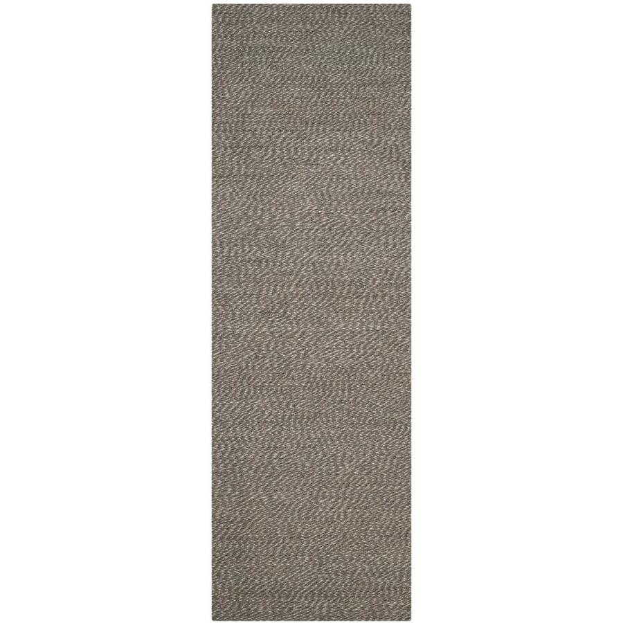 Safavieh Natural Fiber Nassau Gray/Gray Indoor Handcrafted Coastal Runner (Common: 2 x 12; Actual: 2.5-ft W x 12-ft L)