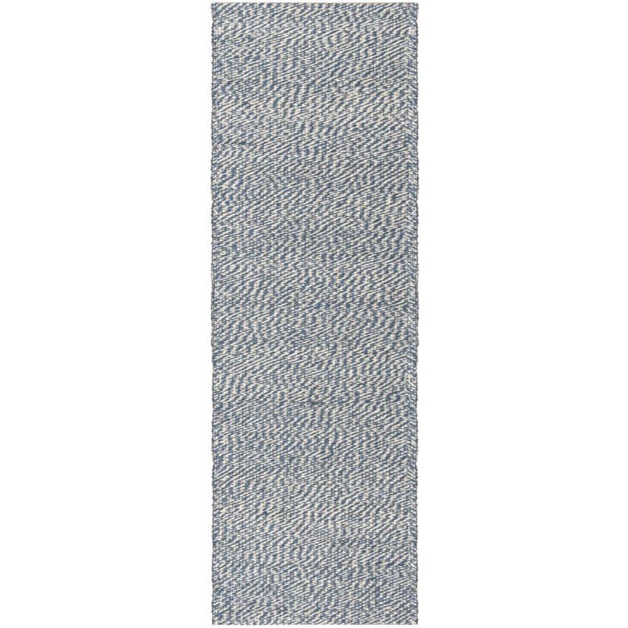 Safavieh Natural Fiber Nassau Blue/Ivory Indoor Handcrafted Coastal Runner (Common: 3 x 8; Actual: 2.5-ft W x 8-ft L)