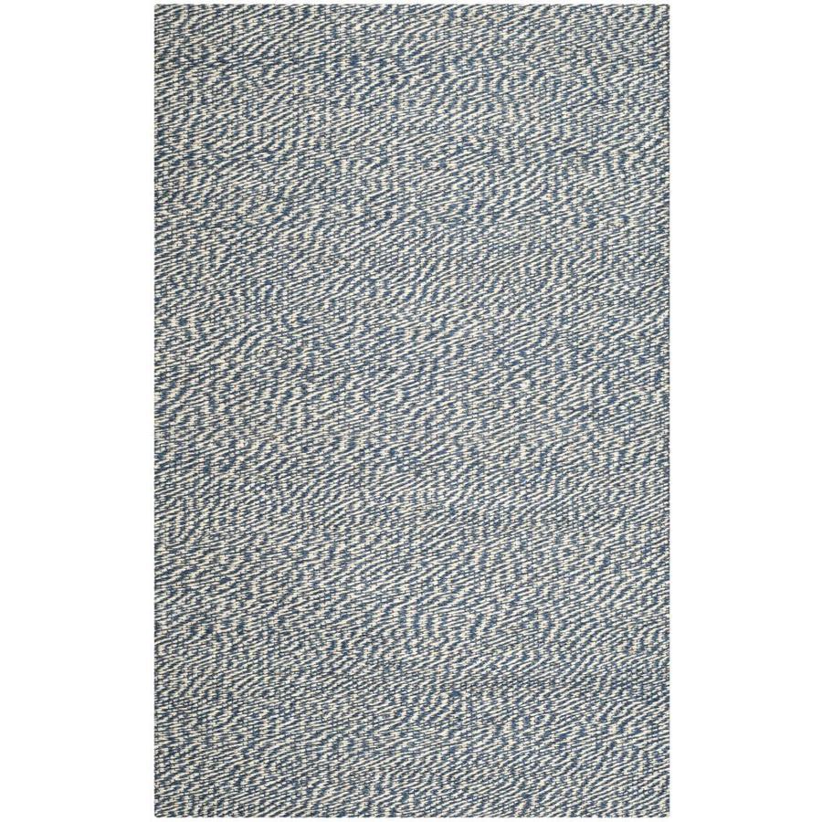 Safavieh Natural Fiber Nassau Blue/Ivory Indoor Handcrafted Coastal Area Rug (Common: 5 x 8; Actual: 5-ft W x 8-ft L)