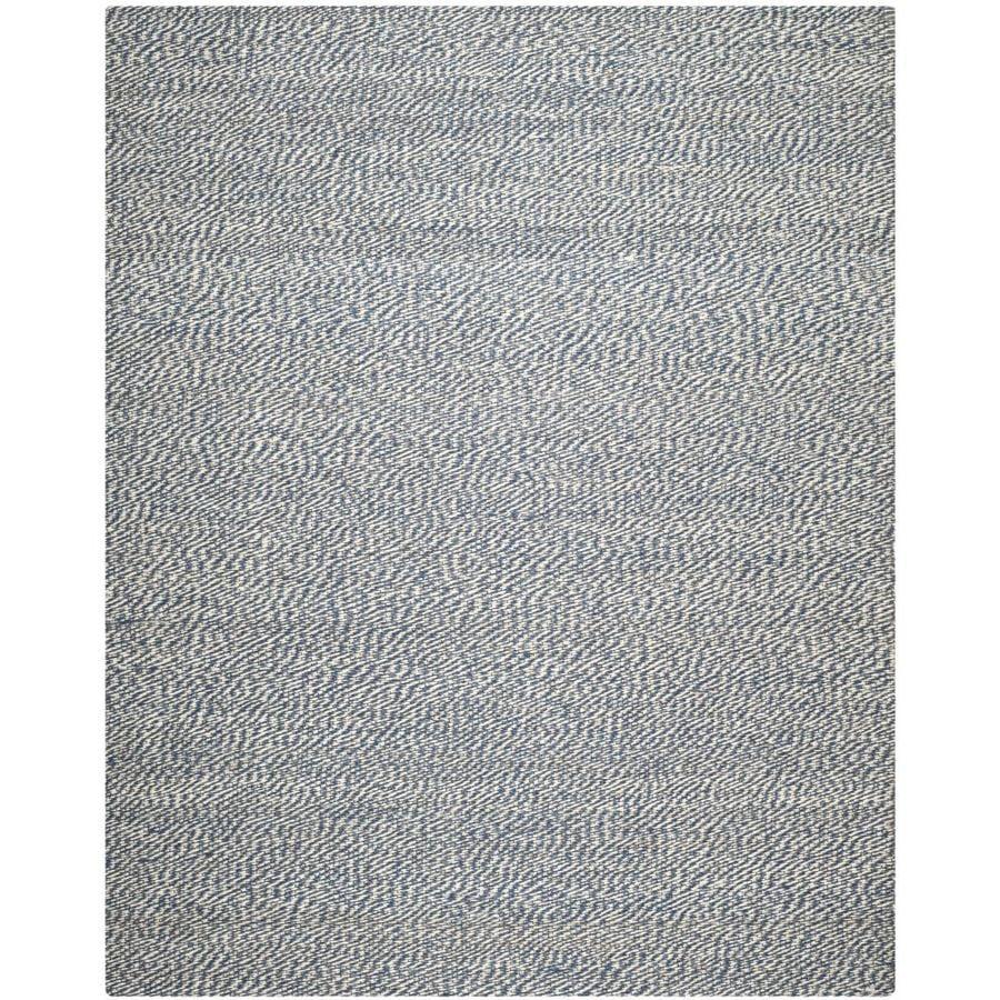 Safavieh Natural Fiber Nassau Blue/Ivory Indoor Handcrafted Coastal Area Rug (Common: 9 x 12; Actual: 9-ft W x 12-ft L)