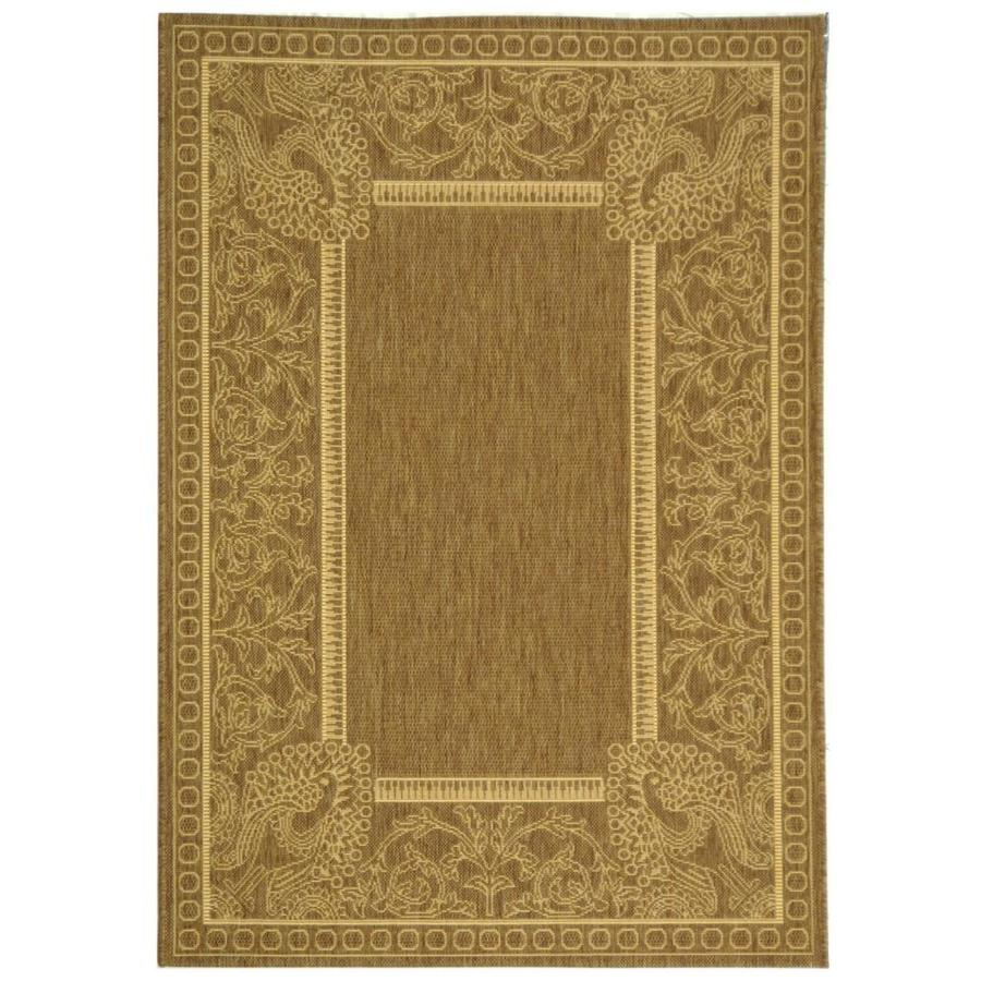 Safavieh Courtyard Brown/Natural Rectangular Indoor/Outdoor Machine-Made Coastal Throw Rug (Common: 3 x 5; Actual: 2.58-ft W x 5-ft L)