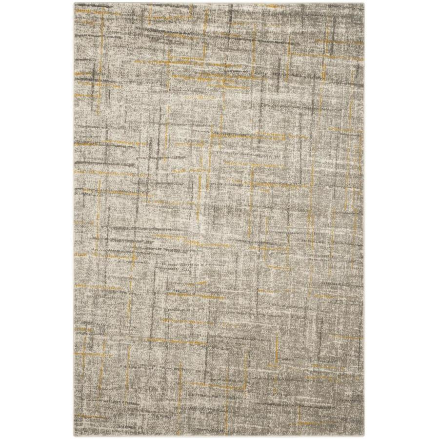 Safavieh Porcello Olivya Gray/Dark Gray Rectangular Indoor Machine-made Distressed Area Rug (Common: 4 x 6; Actual: 4.083-ft W x 6-ft L)