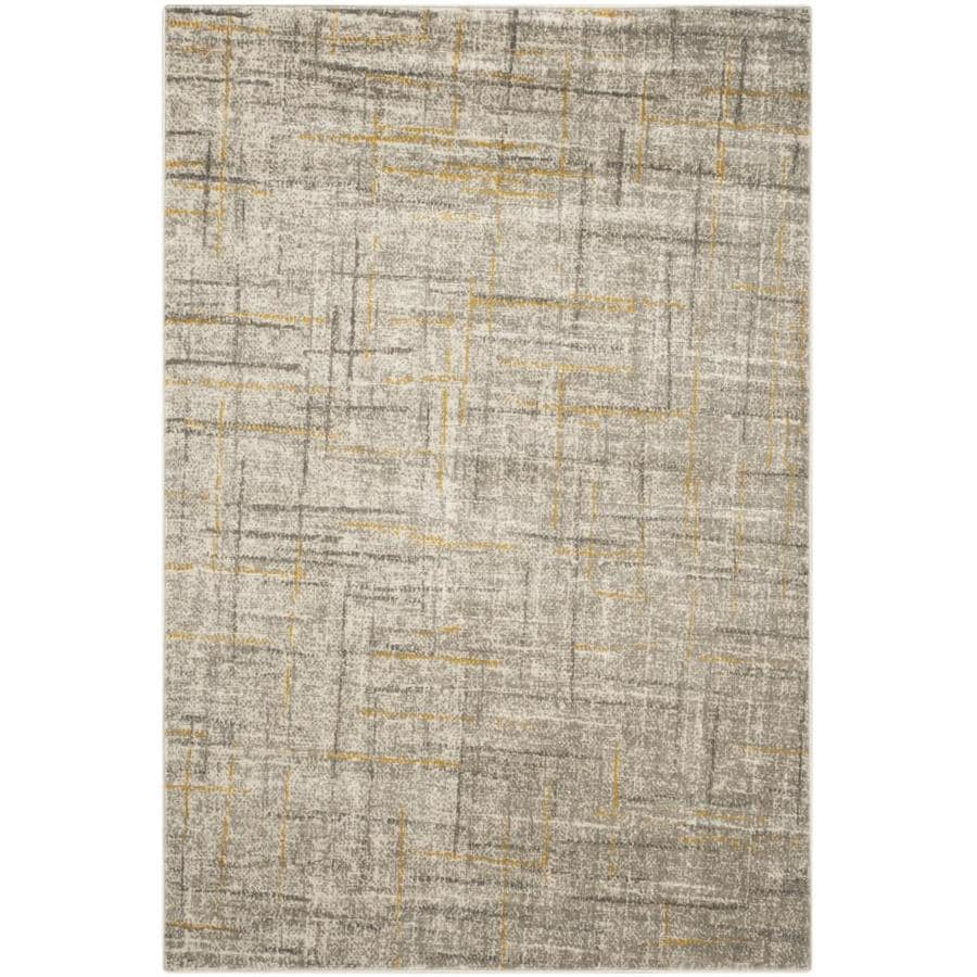 Safavieh Porcello Gray/Dark Gray Rectangular Indoor Machine-Made Distressed Area Rug (Common: 4 x 6; Actual: 4.083-ft W x 6-ft L)
