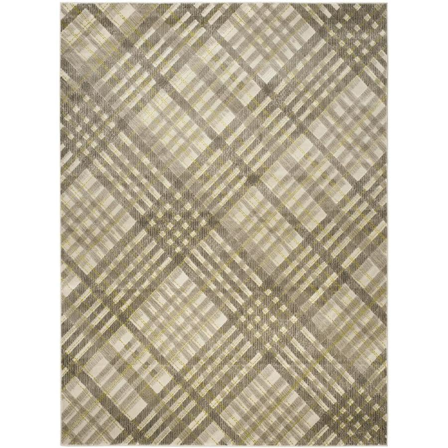 Safavieh Porcello Plaids Gray/Dark Gray Indoor Area Rug (Common: 8 x 11; Actual: 8.2-ft W x 11-ft L)