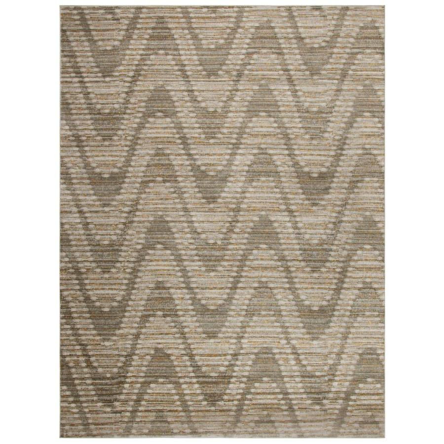 Safavieh Porcello Barnaby Gray/Dark Gray Indoor Coastal Area Rug (Common: 5 x 8; Actual: 5.2-ft W x 7.5-ft L)
