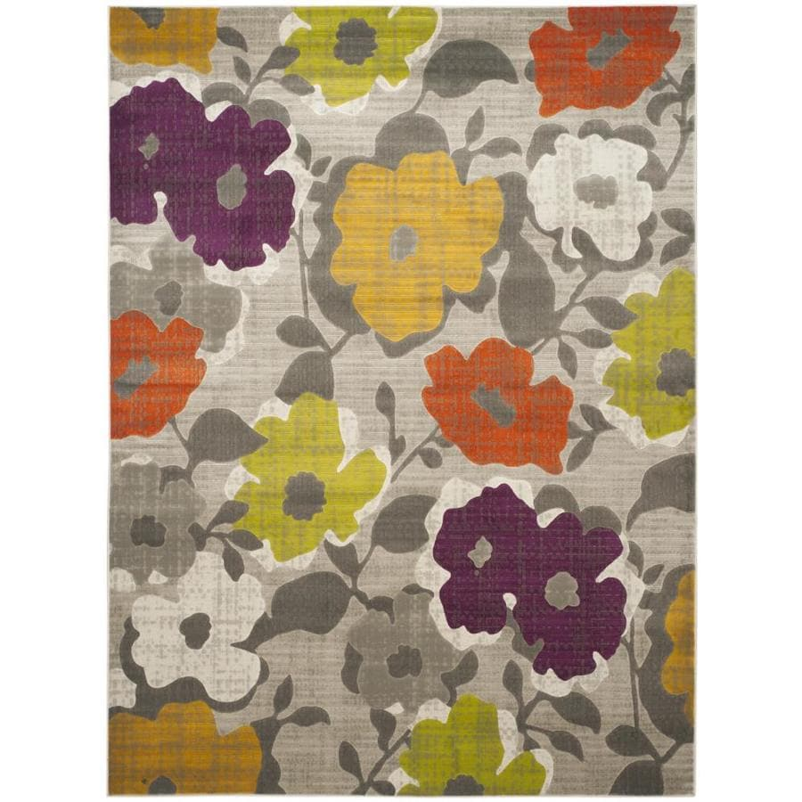 Safavieh Porcello Garland Gray/Yellow Rectangular Indoor Machine-made Nature Area Rug (Common: 8 x 11; Actual: 8.167-ft W x 11-ft L)