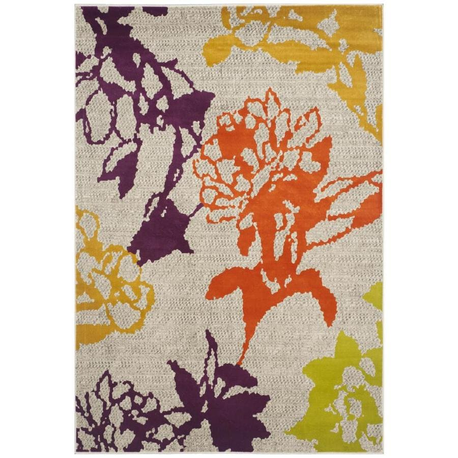 Safavieh Porcello Orchid Gray/Purple Indoor Nature Area Rug (Common: 5 x 8; Actual: 5.2-ft W x 7.5-ft L)