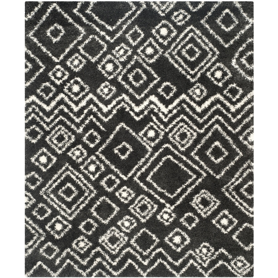 Safavieh Belize Lakin Shag Charcoal/Ivory Indoor Area Rug