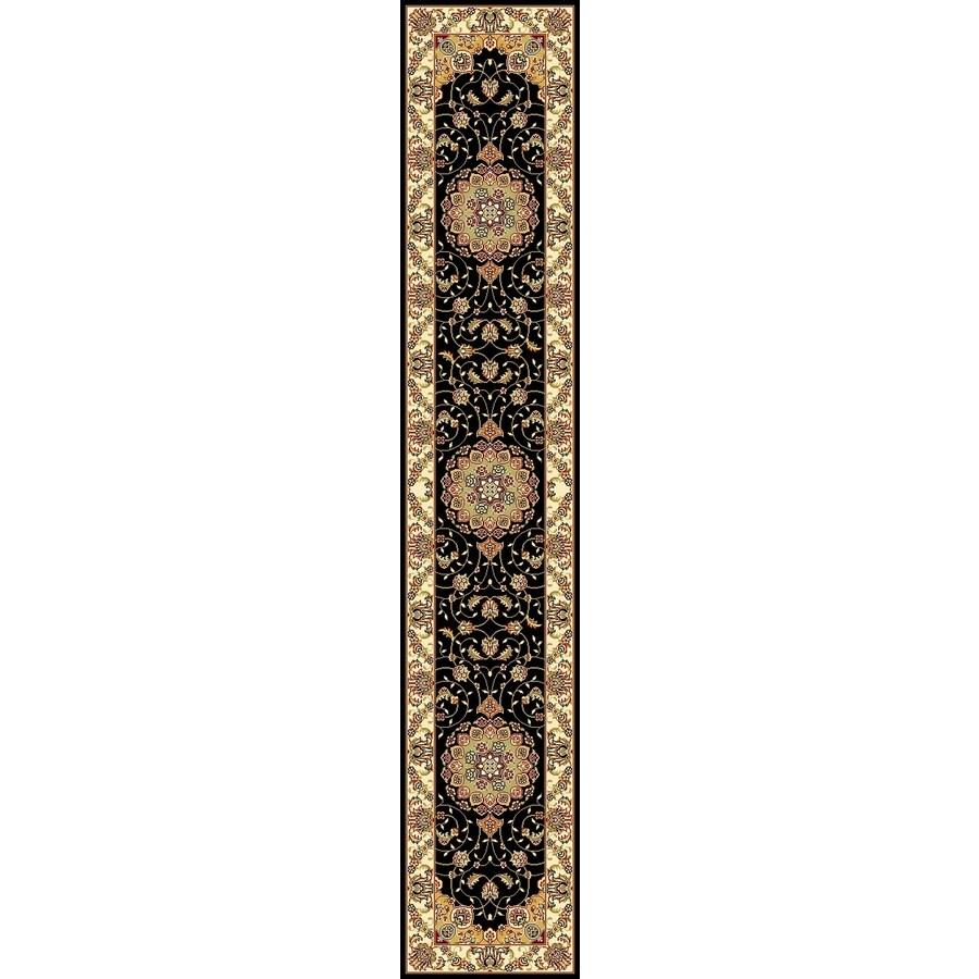 Safavieh Lyndhurst Kerman Black/Ivory Indoor Oriental Runner (Common: 2 x 14; Actual: 2.25-ft W x 14-ft L)