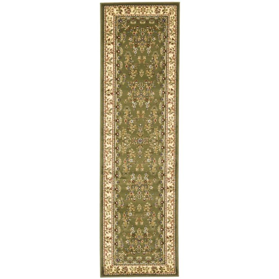 Safavieh Lyndhurst Hamadan Sage/Ivory Rectangular Indoor Machine-made Oriental Runner (Common: 2 x 14; Actual: 2.25-ft W x 14-ft L)