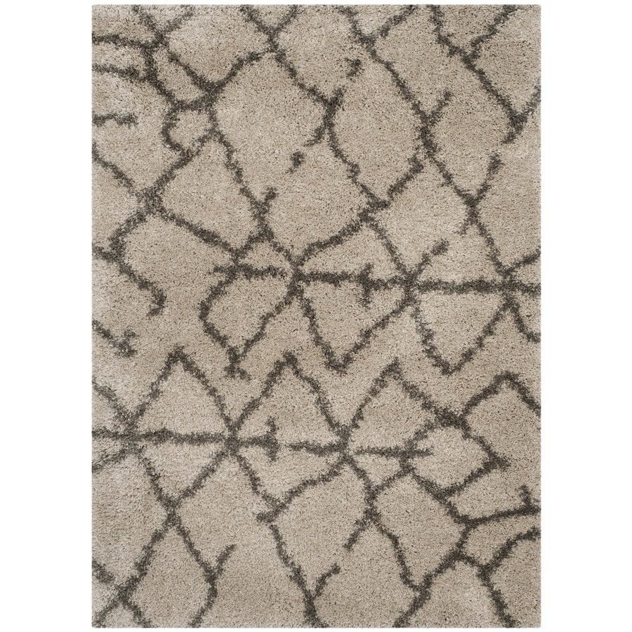 Safavieh Belize Rosby Shag Taupe/Gray Rectangular Indoor Machine-made Moroccan Area Rug (Common: 4 x 6; Actual: 4-ft W x 6-ft L)