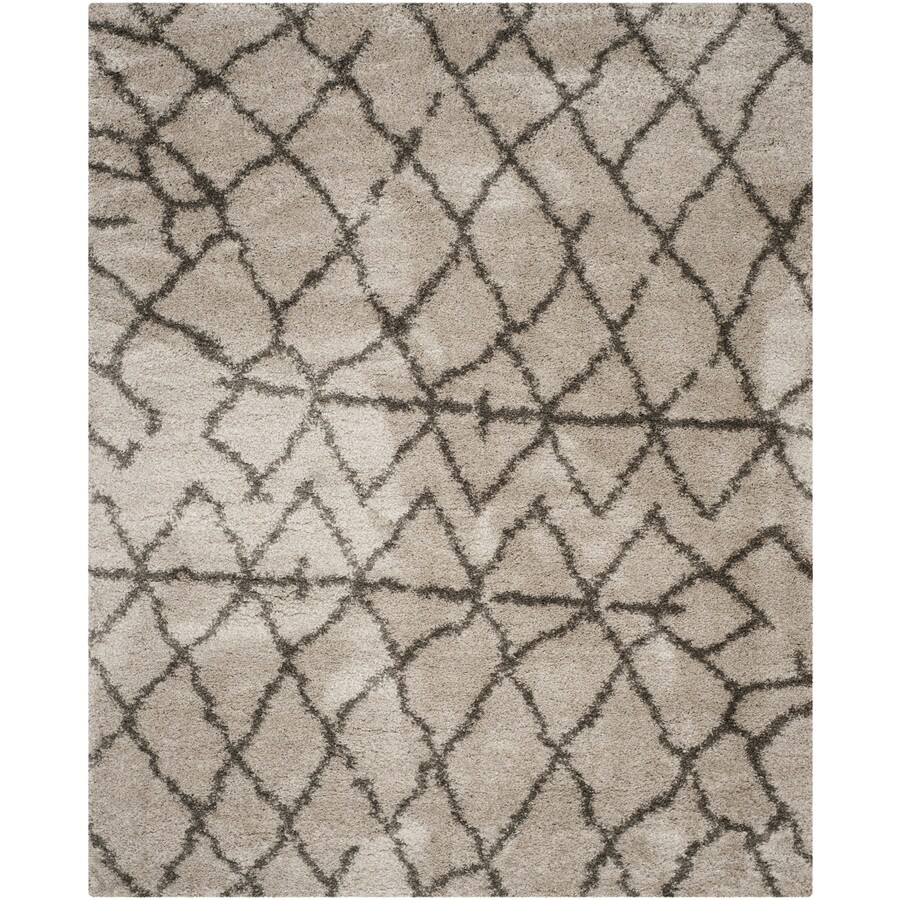 Safavieh Belize Shag Taupe/Gray Rectangular Indoor Machine-Made Moroccan Area Rug (Common: 8 x 10; Actual: 8-ft W x 10-ft L)
