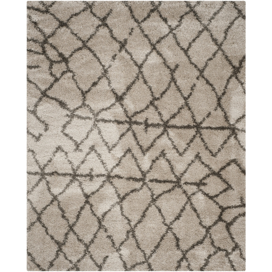 Safavieh Belize Rosby Shag Taupe/Gray Indoor Moroccan Area Rug (Common: 8 x 10; Actual: 8-ft W x 10-ft L)