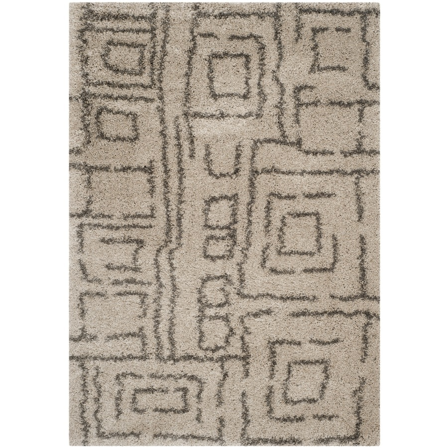 Safavieh Belize Shag Taupe/Gray Rectangular Indoor Machine-Made Moroccan Area Rug (Common: 5 x 7; Actual: 5.083-ft W x 7.5-ft L)