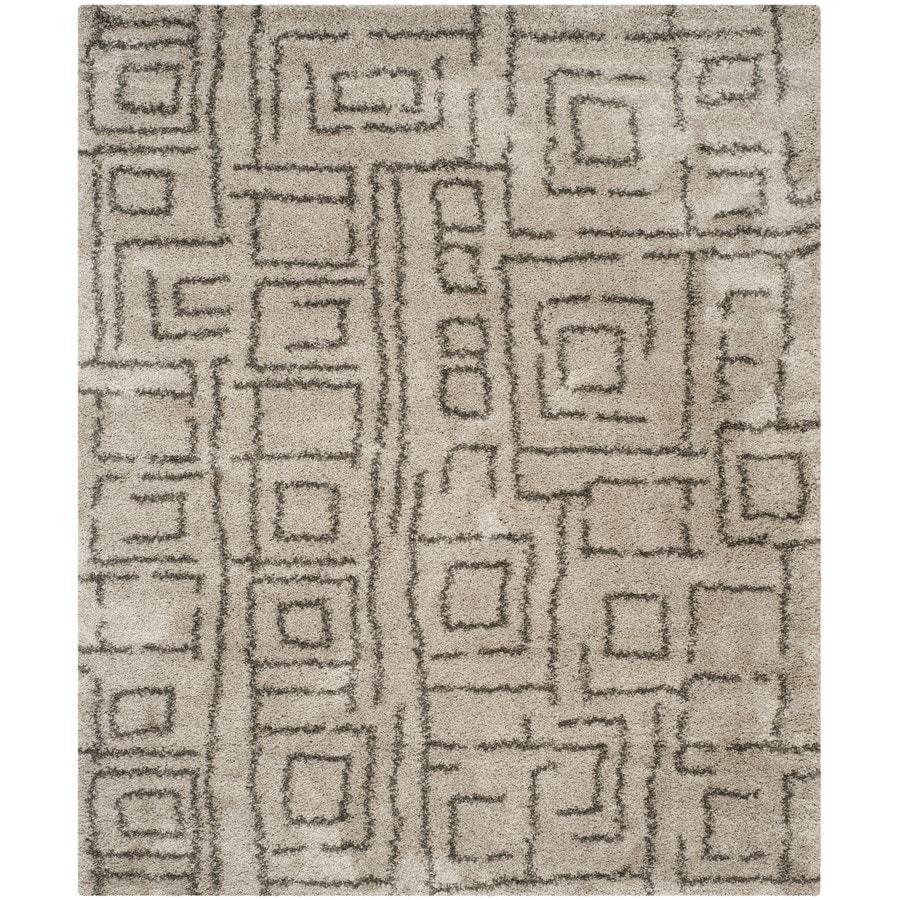 Safavieh Belize Mae Shag Taupe/Gray Indoor Moroccan Area Rug (Common: 8 x 10; Actual: 8-ft W x 10-ft L)