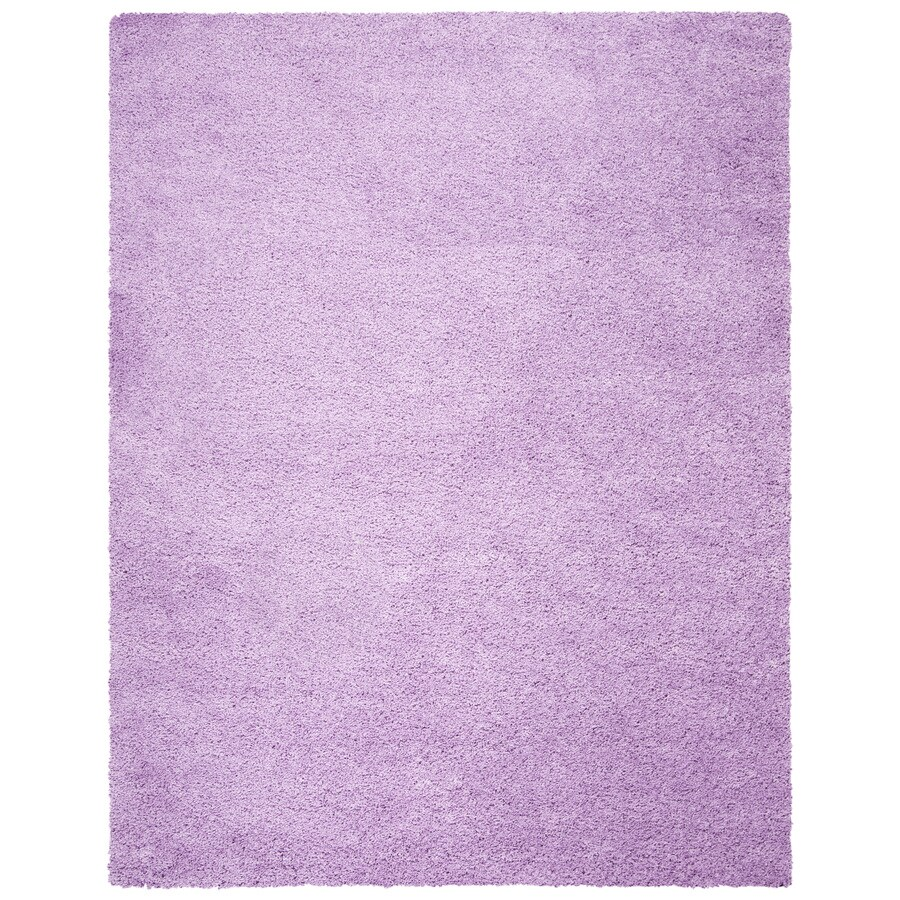Safavieh California Shag Lilac Rectangular Indoor Machine-Made Area Rug (Common: 6 x 9; Actual: 6.583-ft W x 9.5-ft L)