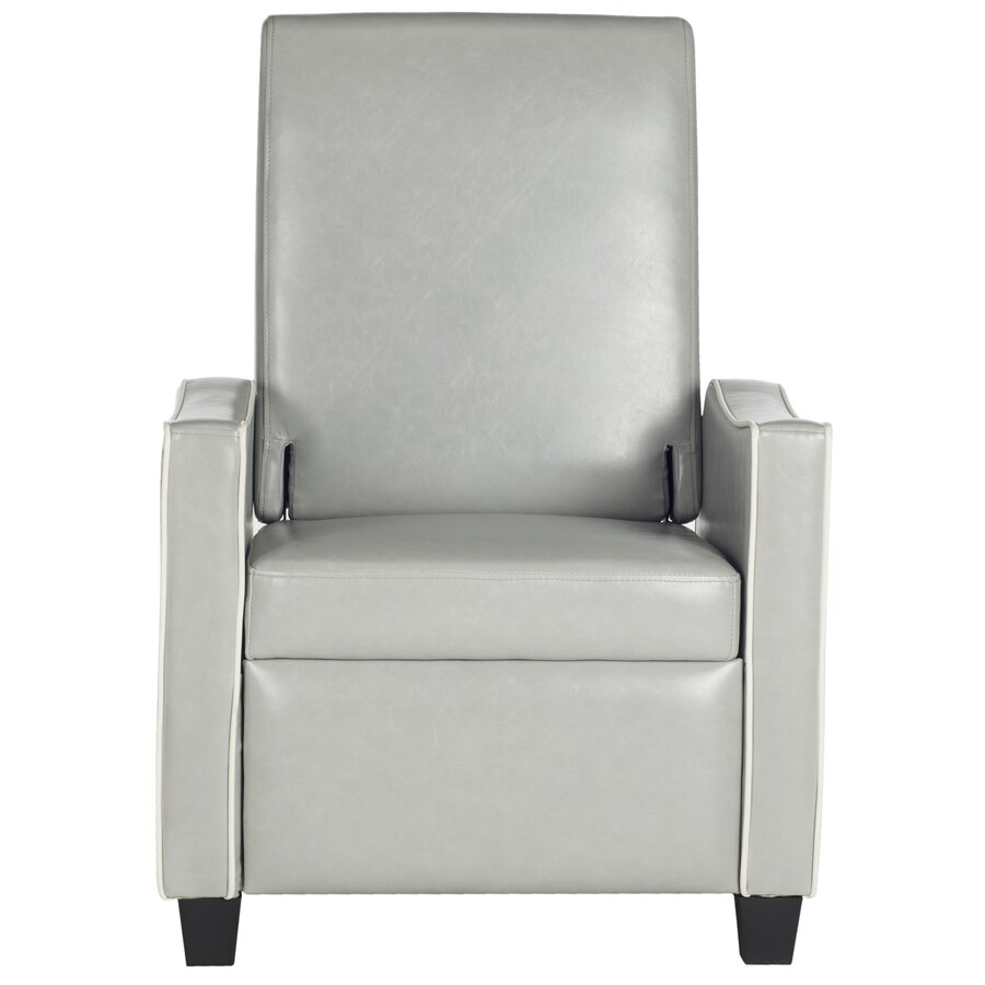 Safavieh Holden Casual Gray/White Faux Leather Accent Chair
