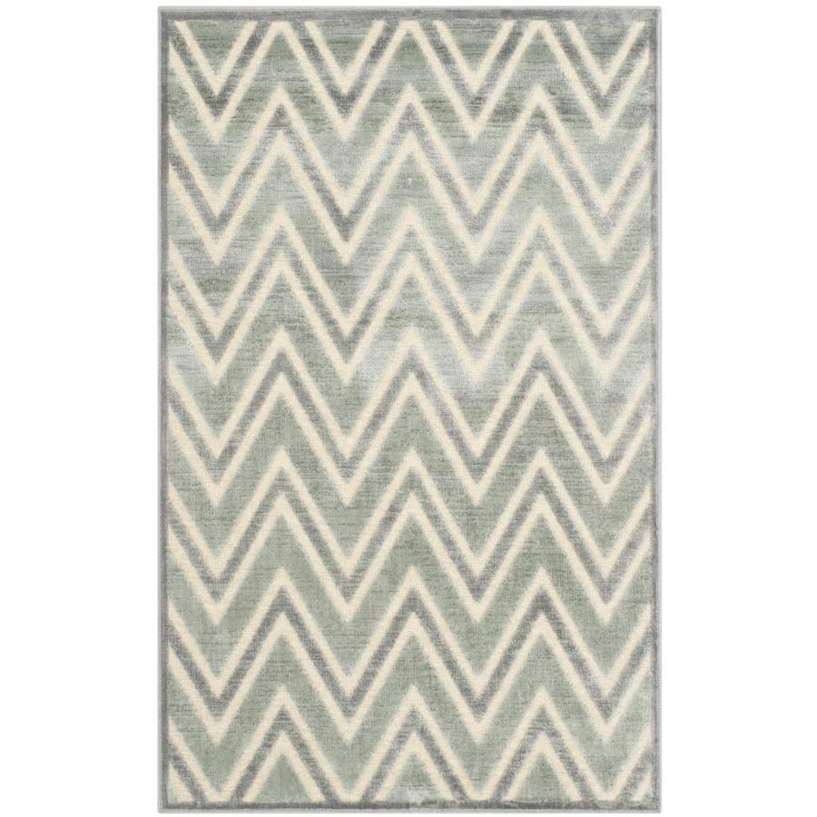 Safavieh Paradise Orion Gray Indoor Distressed Area Rug (Common: 4 x 6; Actual: 4-ft W x 5.6-ft L)