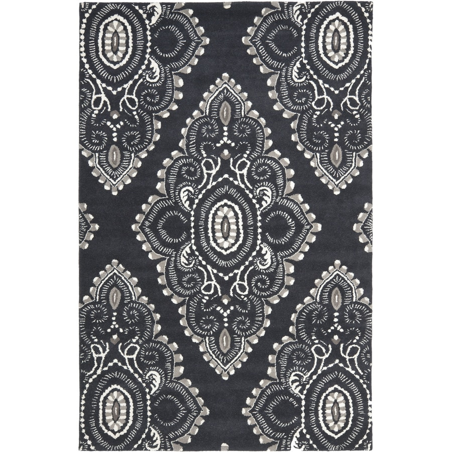 Safavieh Wyndham Clifton 6 X 9 Dark Gray Ivory Indoor Trellis Bohemian Eclectic Handcrafted Area Rug In The Rugs Department At Lowes Com