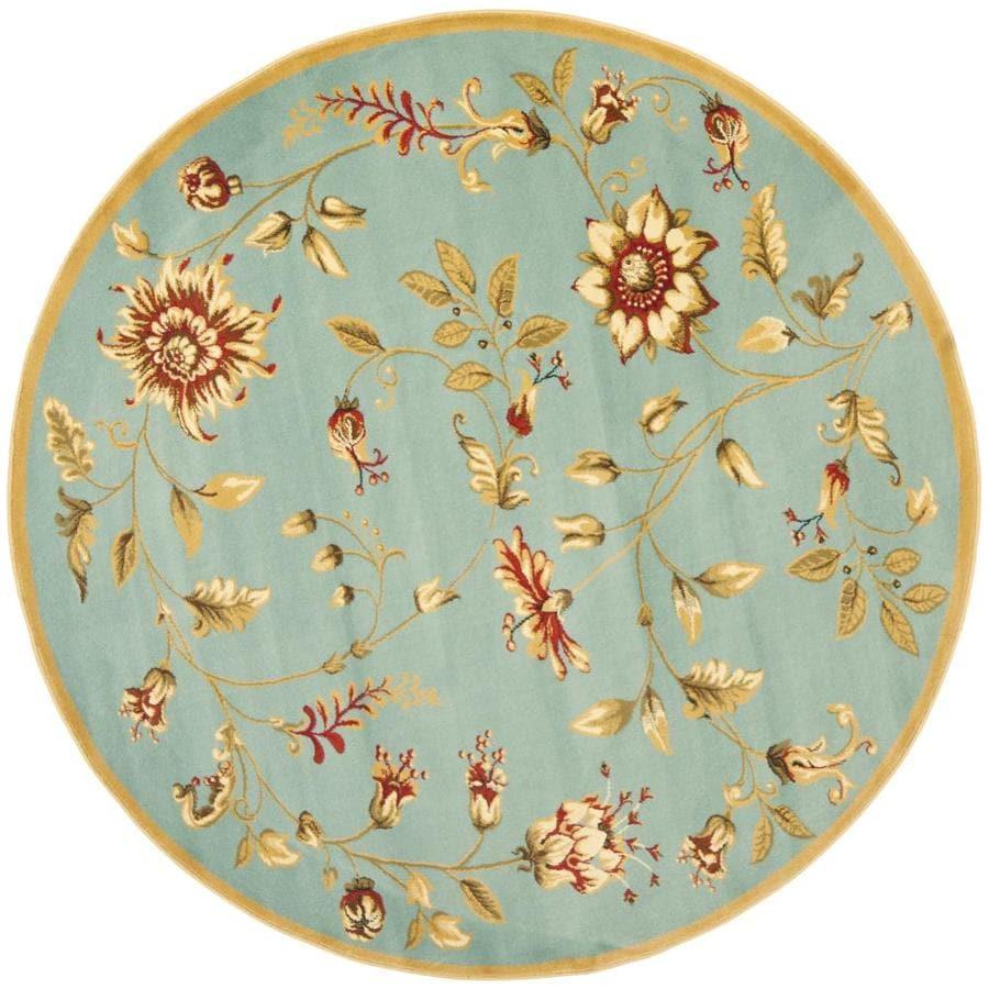 Shop Safavieh Lyndhurst Floral Swirl Blue Round Indoor