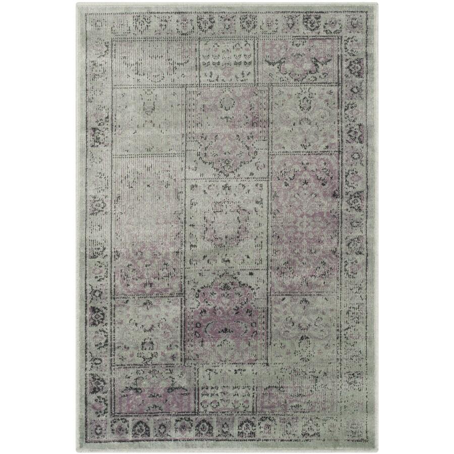 Safavieh Vintage Baktiari Amethyst Indoor Distressed Throw Rug (Common: 2 x 4; Actual: 2.6-ft W x 4-ft L)