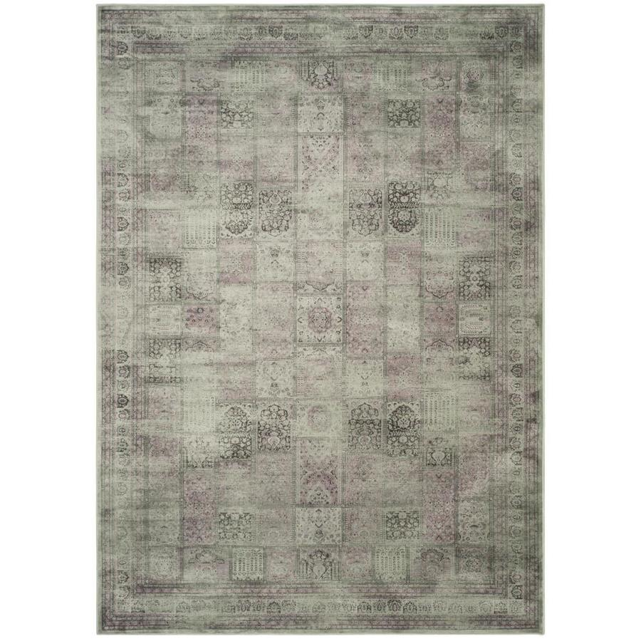 Safavieh Vintage Baktiari Amethyst Rectangular Indoor Machine-made Distressed Area Rug (Common: 9 x 12; Actual: 8.8-ft W x 12.2-ft L)