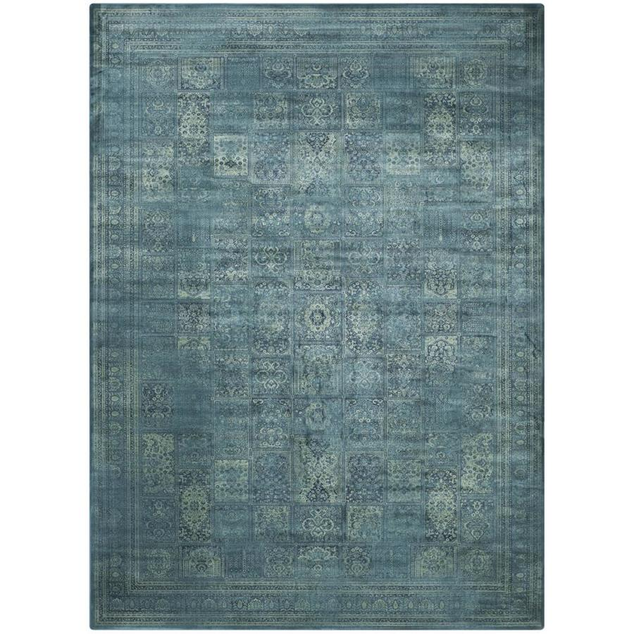 Safavieh Vintage Turquoise/Multi Rectangular Indoor Machine-Made Distressed Area Rug (Common: 8 X 11; Actual: 8.833-ft W x 12.167-ft L)