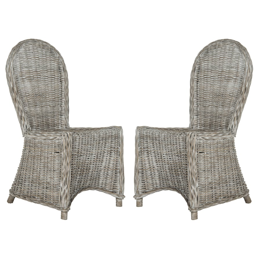 Safavieh Set of 2 Southeast Asia White Washed Side Chairs