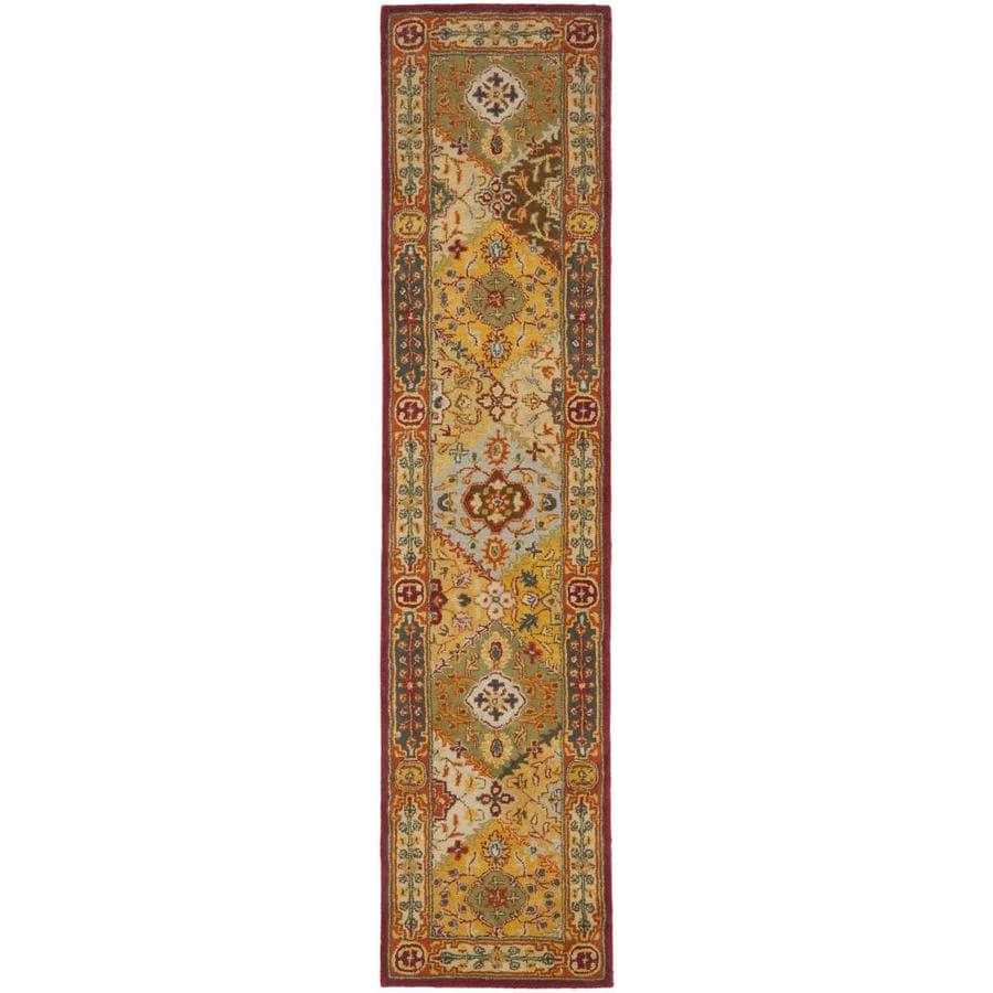 Safavieh Heritage Lavar Indoor Handcrafted Oriental Runner (Common: 2 x 14; Actual: 2.25-ft W x 14-ft L)