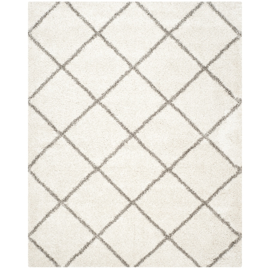 Safavieh Hudson Beckham Shag Ivory/Gray Indoor Moroccan Area Rug (Common: 8 x 10; Actual: 8-ft W x 10-ft L)