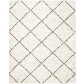 Safavieh Hudson Beckham Shag Ivory/Gray Indoor Moroccan Area Rug (Common: 9 x 12; Actual: 9-ft W x 12-ft L)