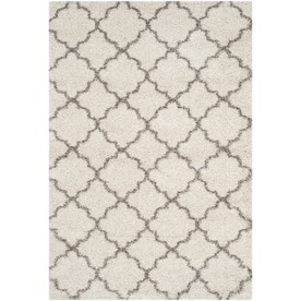 Safavieh Hudson Theron Shag Ivory/Gray Indoor Moroccan Area Rug (Common: 9 x 12; Actual: 9-ft W x 12-ft L)