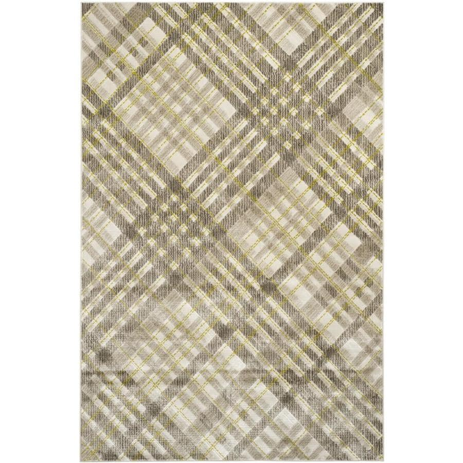 Safavieh Porcello Plaids Gray/Dark Gray Indoor Area Rug (Common: 6 x 9; Actual: 6-ft W x 9-ft L)