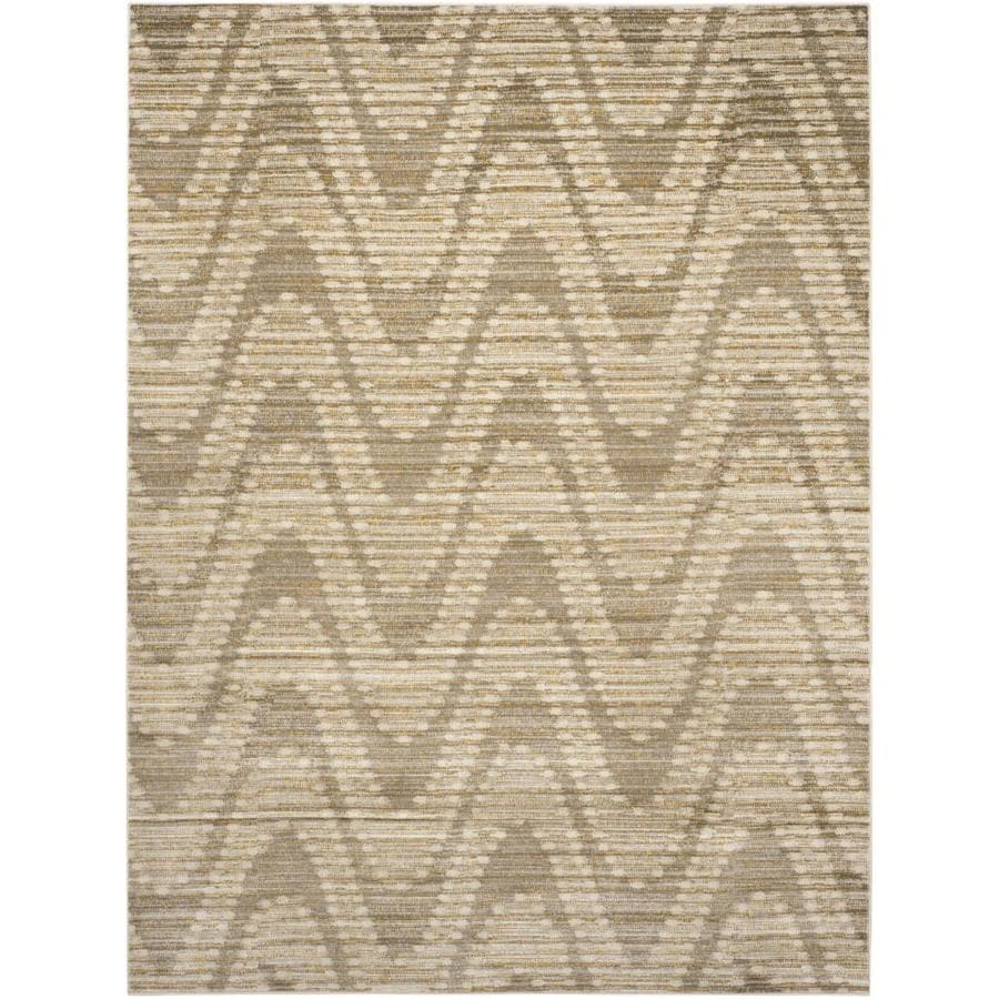 Safavieh Porcello Barnaby Gray/Dark Gray Rectangular Indoor Machine-made Coastal Area Rug (Common: 6 x 9; Actual: 6-ft W x 9-ft L)