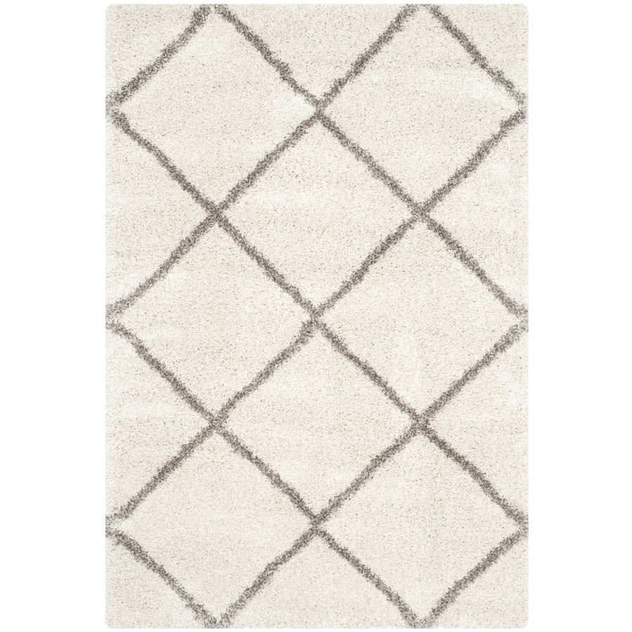 Safavieh Hudson Beckham Shag Ivory/Gray Indoor Moroccan Area Rug (Common: 6 x 9; Actual: 6-ft W x 9-ft L)