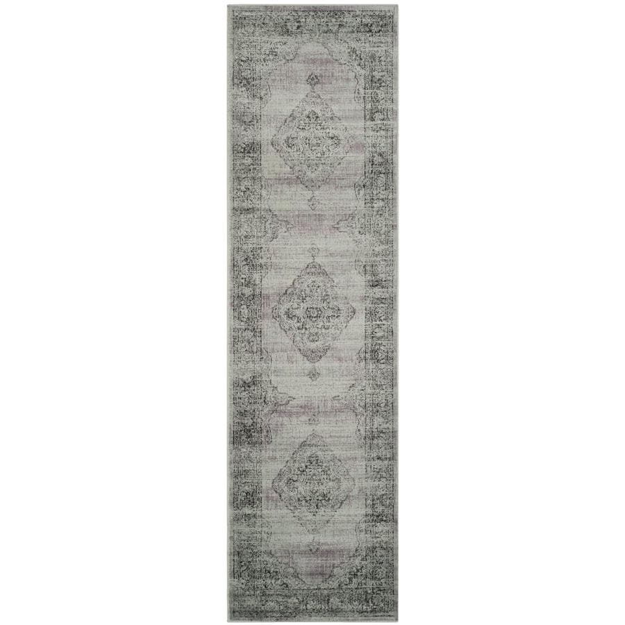 Safavieh Vintage Mezra Light Blue Indoor Distressed Runner (Common: 2 x 16; Actual: 2.2-ft W x 16-ft L)