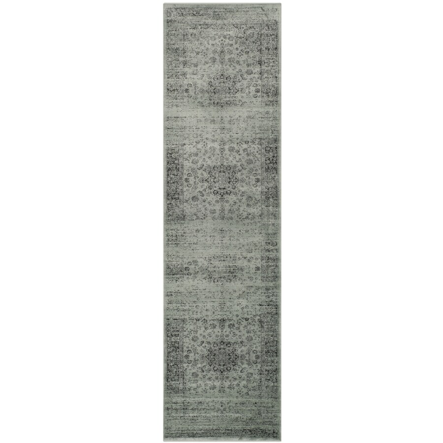 Safavieh Vintage Alhia Spruce/Ivory Indoor Distressed Runner (Common: 2 x 16; Actual: 2.2-ft W x 16-ft L)