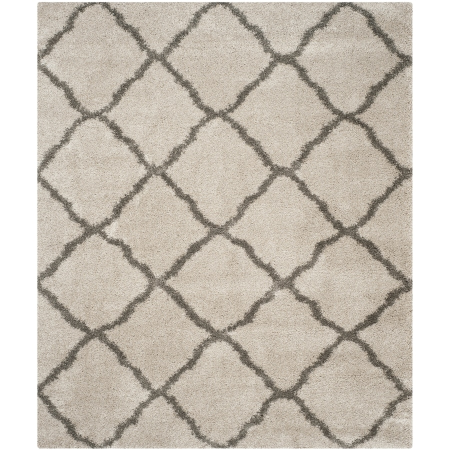 Safavieh Belize Denby Shag Taupe/Gray Indoor Moroccan Area Rug (Common: 8 x 10; Actual: 8-ft W x 10-ft L)