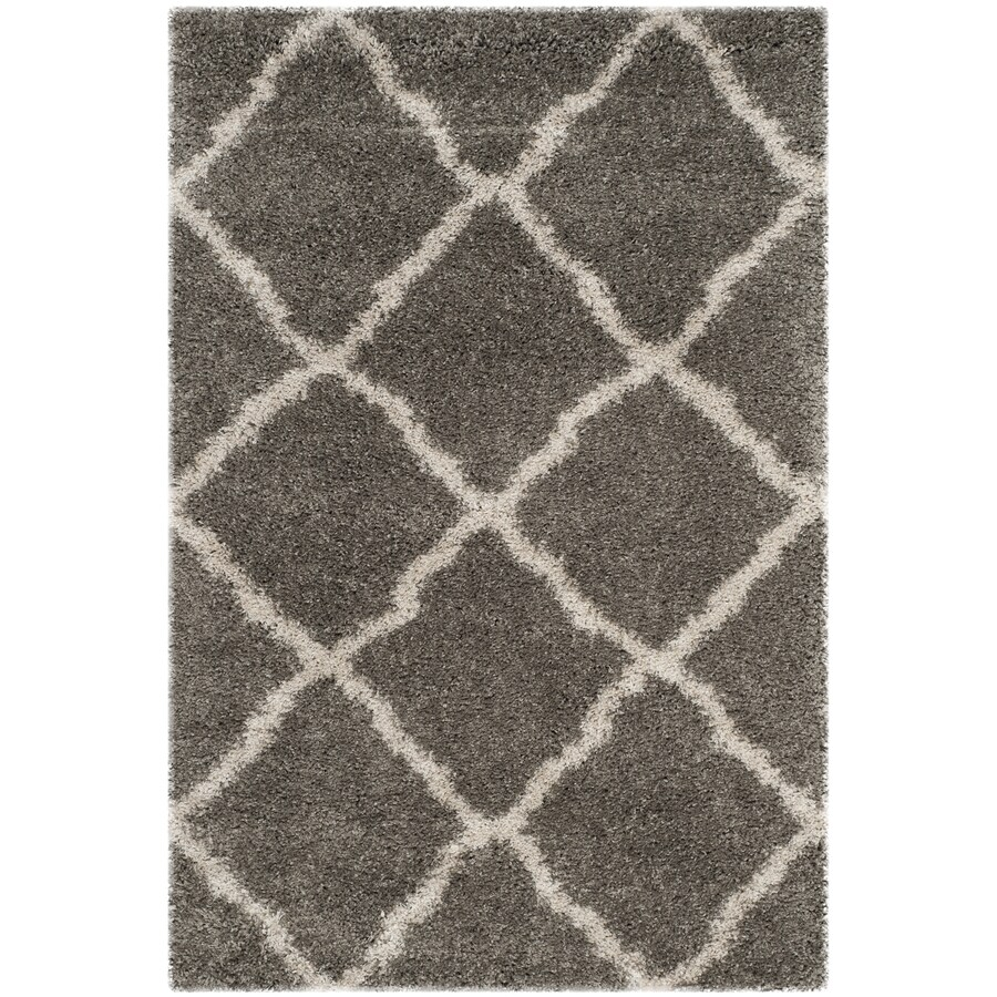 Safavieh Belize Denby Shag Gray/Taupe Indoor Moroccan Area Rug (Common: 4 x 6; Actual: 4-ft W x 6-ft L)