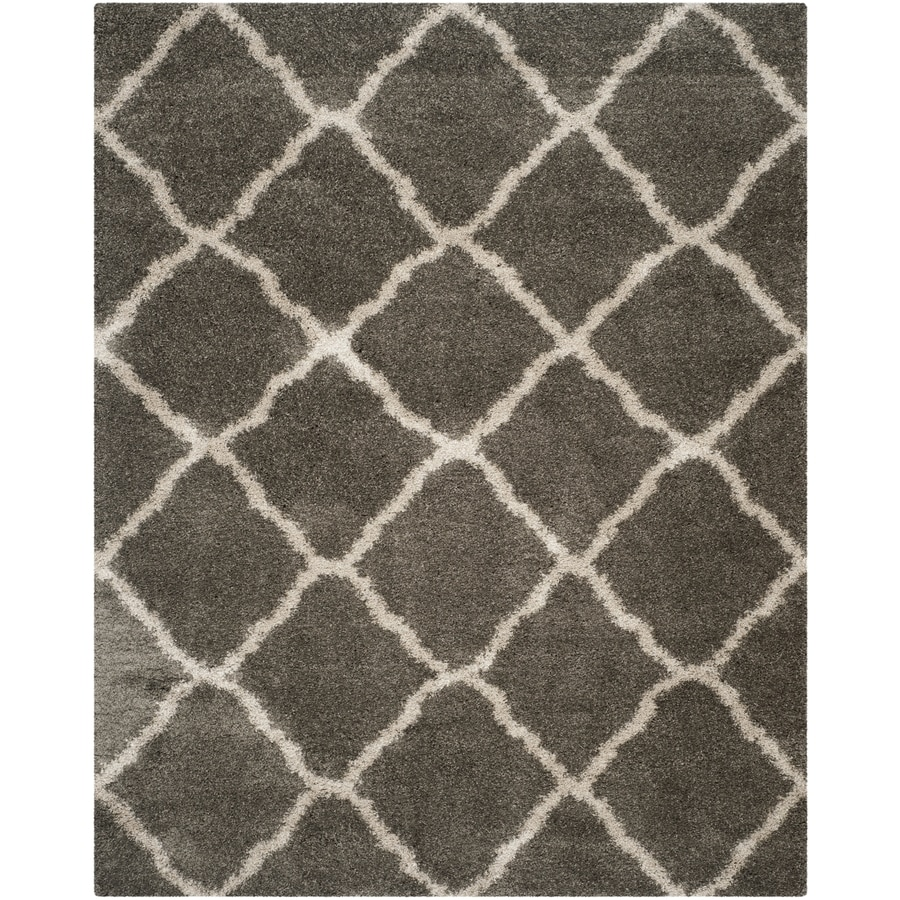 Safavieh Belize Denby Shag Gray/Taupe Rectangular Indoor Machine-made Moroccan Area Rug (Common: 8 x 10; Actual: 8-ft W x 10-ft L)