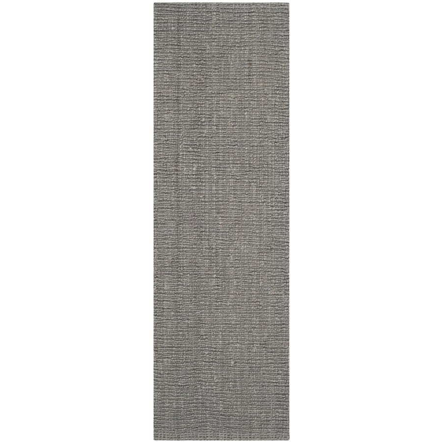Safavieh Natural Fiber Bellport Light Gray Rectangular Indoor Handcrafted Coastal Runner (Common: 2 x 12; Actual: 2.5-ft W x 12-ft L)
