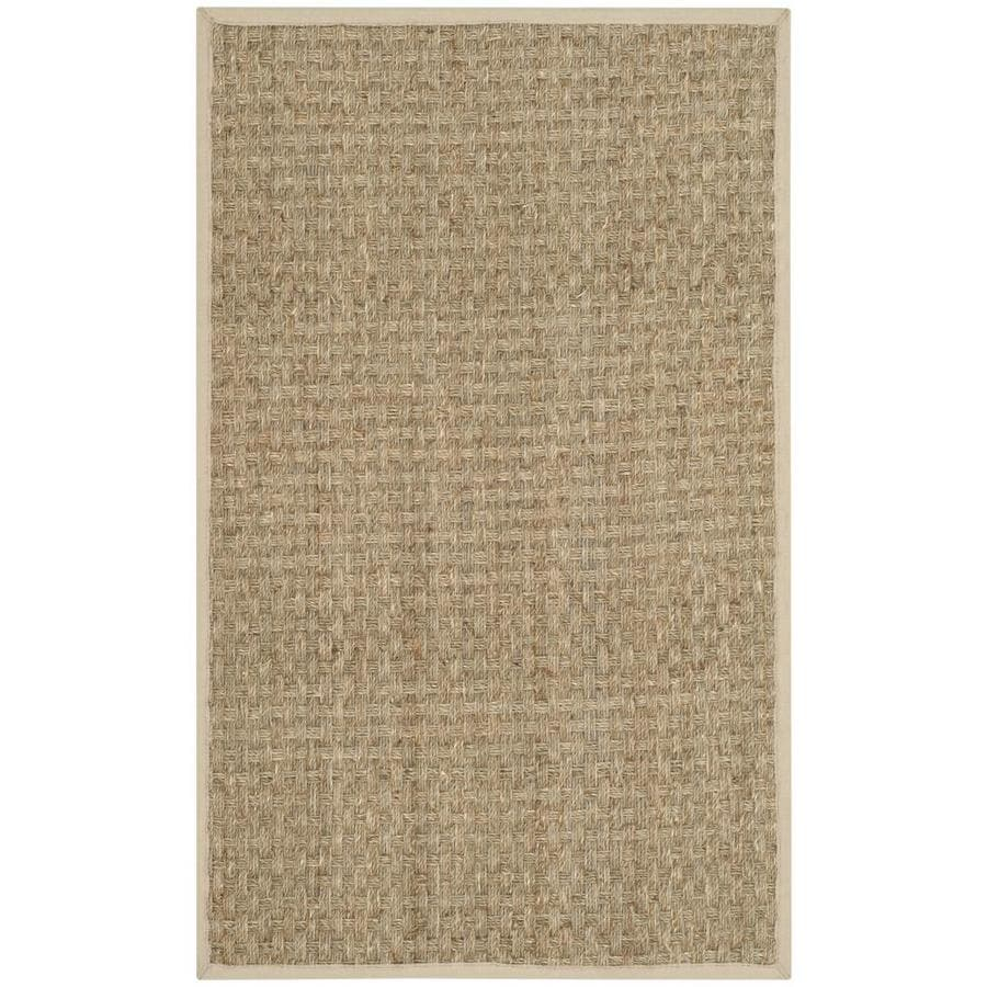 Safavieh Natural Fiber Natural/Ivory Rectangular Indoor Machine-Made Coastal Runner (Common: 2 x 3; Actual: 2-ft W x 3-ft L)