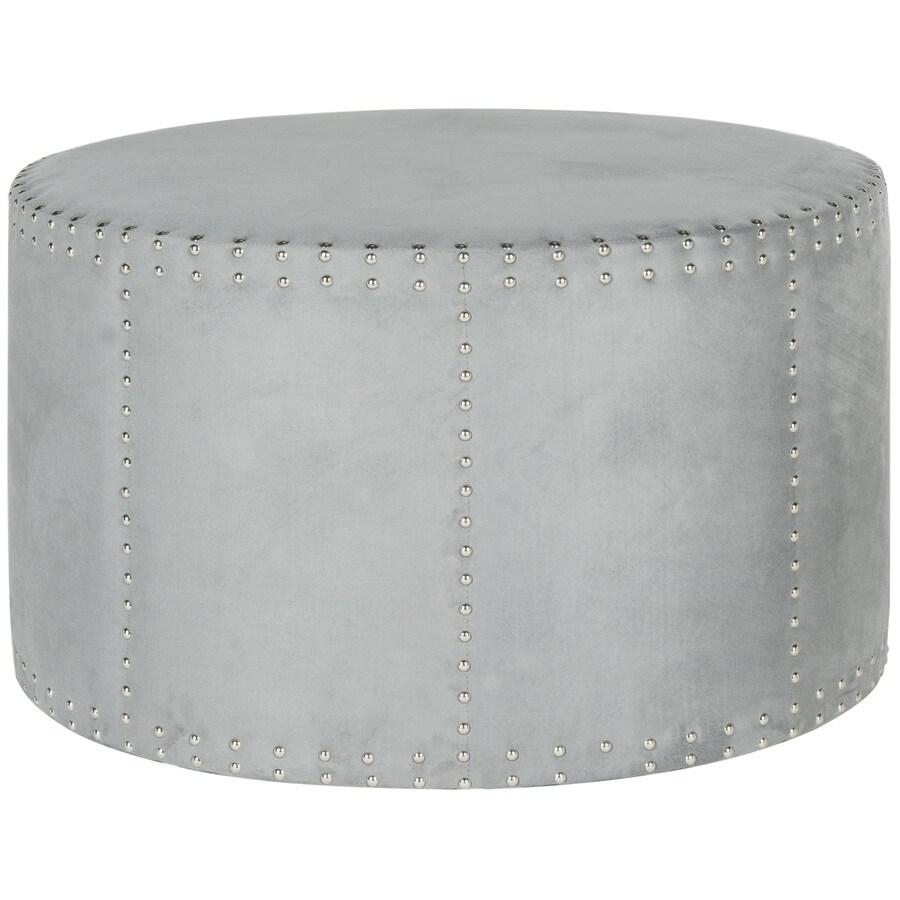 Safavieh Mercer Grey Round Ottoman