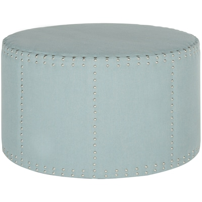 Awesome Safavieh Sherri Modern Sky Blue Round Ottoman At Lowes Com Gmtry Best Dining Table And Chair Ideas Images Gmtryco